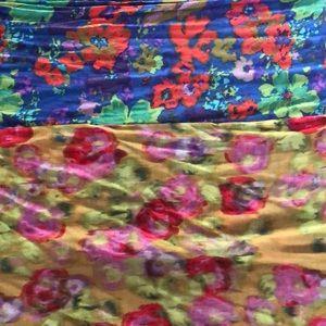 J.Crew floral watercolor scarves